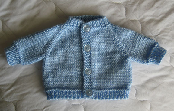 Preemie Baby Knitting Patterns : Knitted Cardigan Patterns For Premature Babies - Long Sweater Jacket